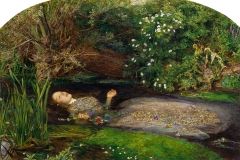 Ophelia, 1851- 1852, John Everett Millais, Oil on canvas.